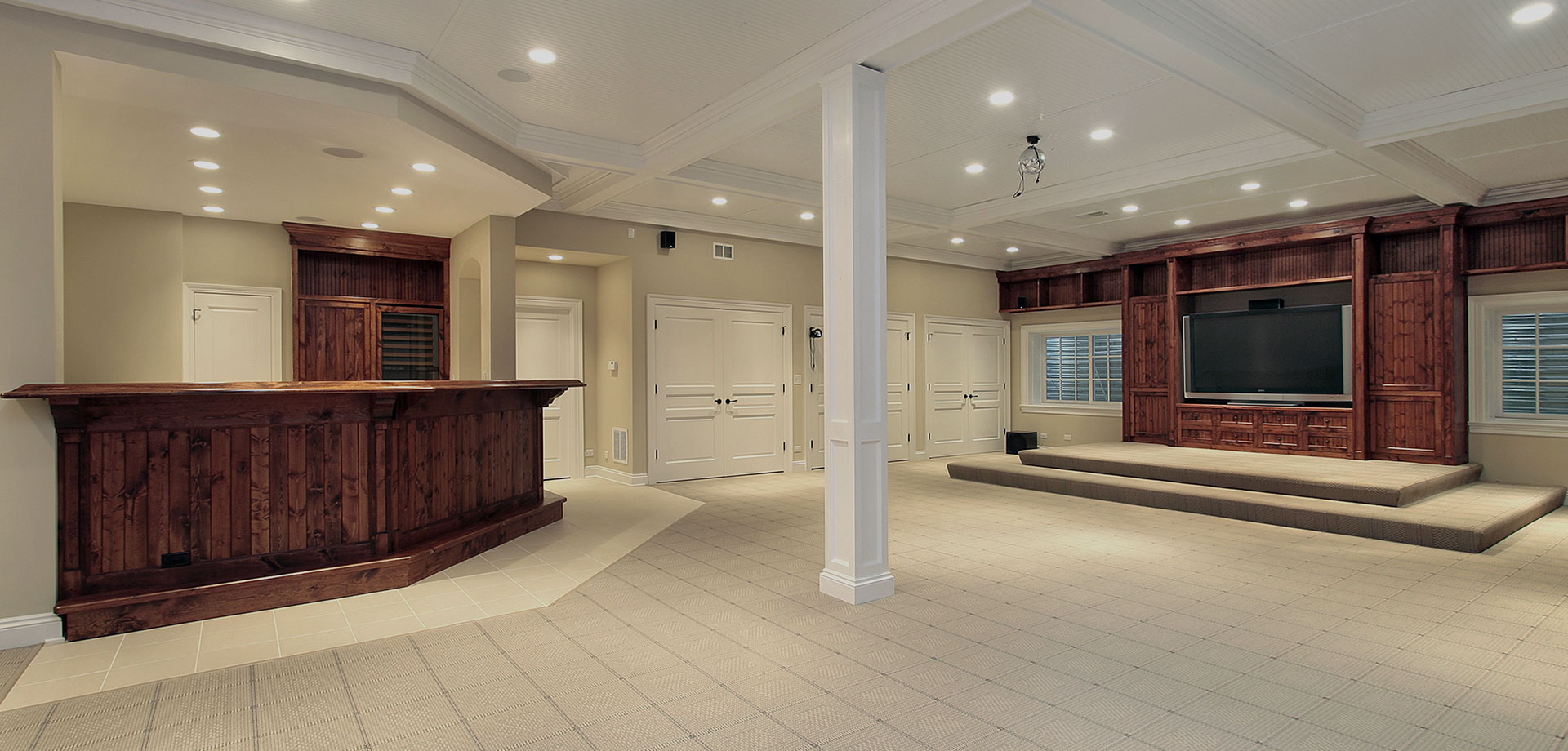 Basement finishing services in Aurora, IL